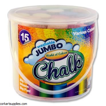 Chalk Sidewalk Bucket 15pk