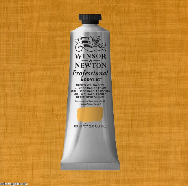 Naples Yellow Deep 60ml Artists' Acrylic Winsor & Newton