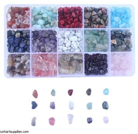 Beads Natural Chips 15 Colours