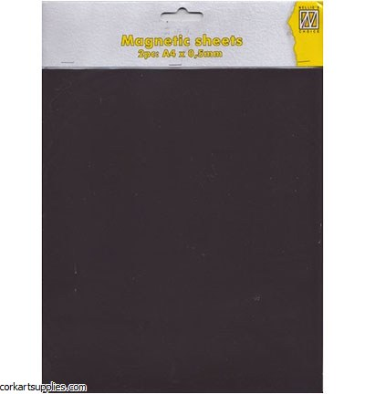 Magnetic Sheet A4 0.5mm 2pk