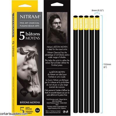 Nitram Batons Moyens 8mm 5pk