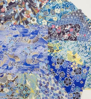 Origami Yasutomo 4338 Yuzen Blues 10pk