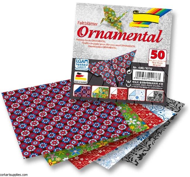 Origami 10x10cm 50pk Ornament