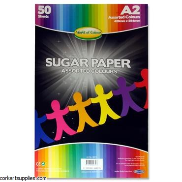 Sugar Paper Black A2 50 Pack