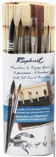 Raphael Travel Brushes 6pk