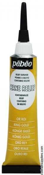 Pebeo Cerne Outliner 20ml Gold King