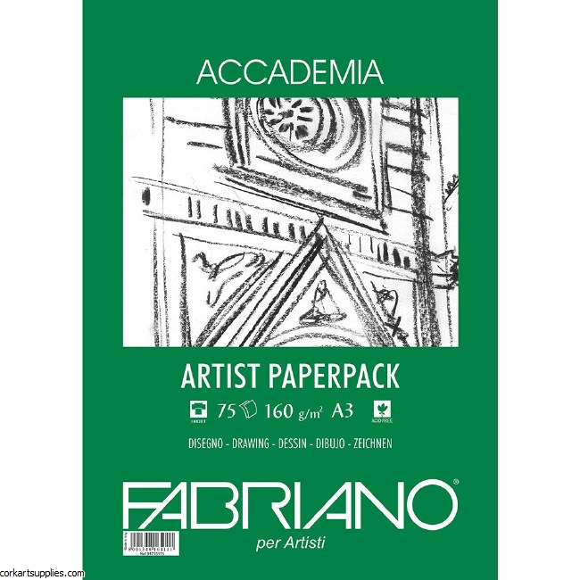 Accademia Drawing Paper A3 160gm 75s