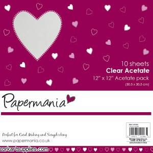 Acetate 12x12 Plain 10pk