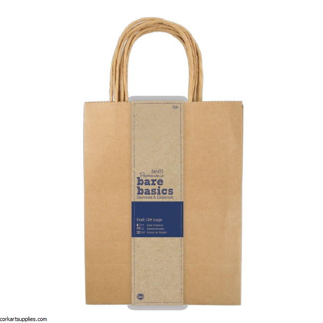 Papermania Large Kraft Gift Bags (5pk)
