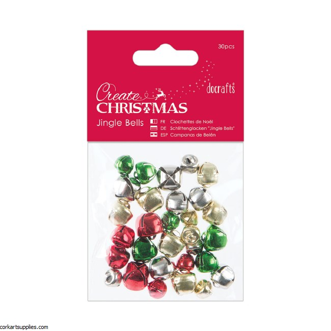 Jingle Bells DoCrafts (30pcs) Mixed Colours & Sizes