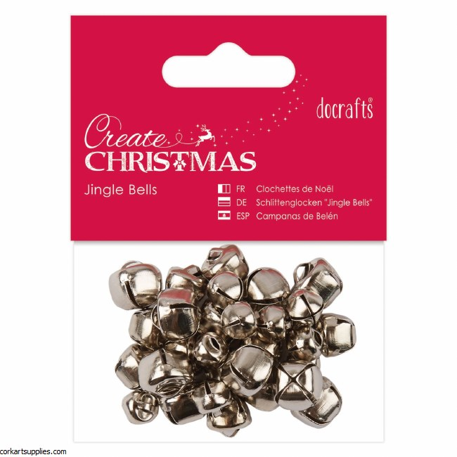 Jingle Bells DoCrafts 30pk Silver