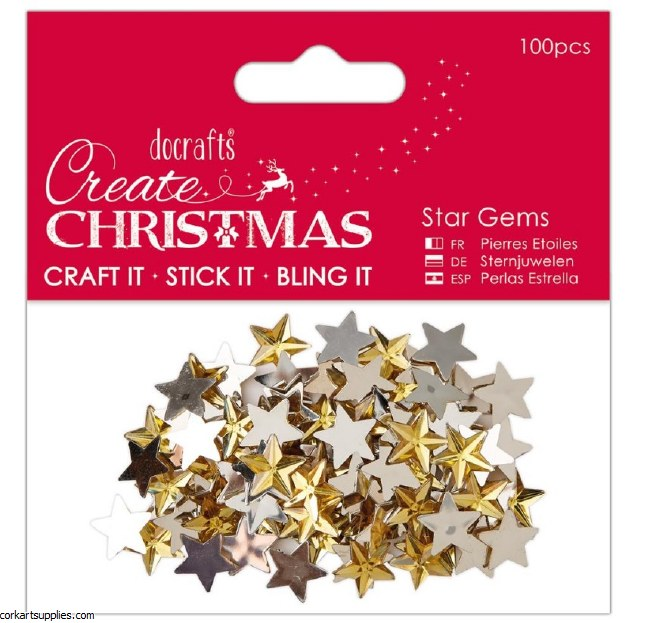 Gems Gold Star 100pk