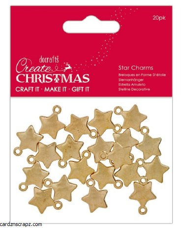 Charms Gold Star 20pk