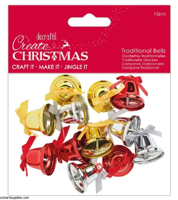 Jingle Bells Large (30pcs) Mixed Colours
