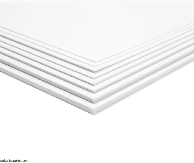 Polystyrene White Sheet 40x50cm .5mm 1pk