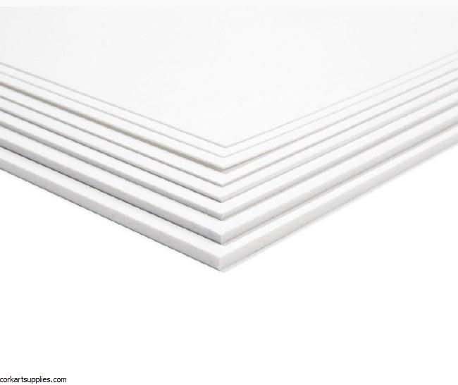 Polystyrene White Sheet 40x50cm .5mm 1pk