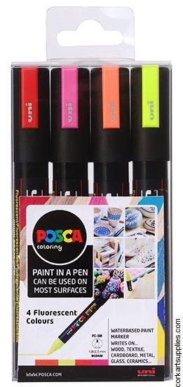 Posca Medium 2.5mm Neon 4pk