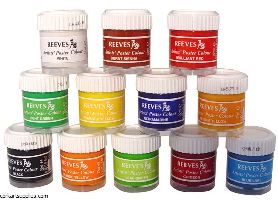 Reeves Poster Paint 12 Pack