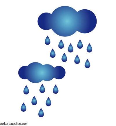 Stencil A5 Pronty Rain Clouds