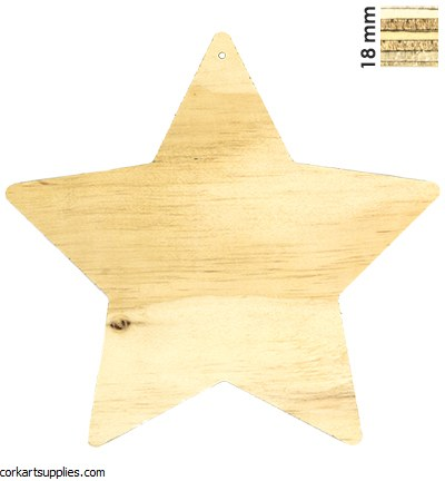 Wooden Pronty Star Ø18mm 10