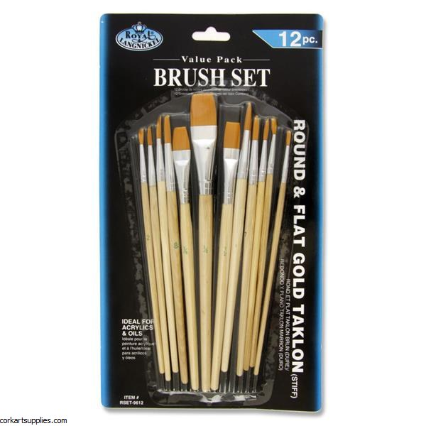 Brush R/L Asst Sizes 12pk