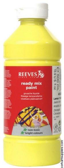 Redimix 500ml Reeves Lemon Yellow
