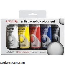 Reeves Acrylic 75ml 5pk