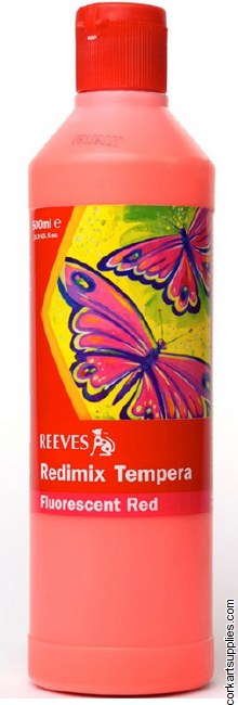 Redimix 500ml Reeves Fluorescent Red