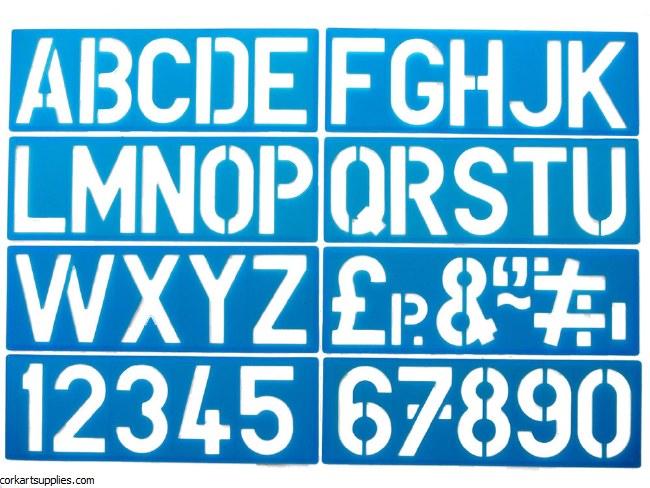 Stencil Heavy Plastic Full Alphabet 4