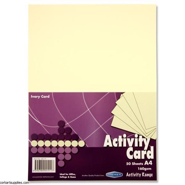 A4 Card 160gm Ivory 50pk