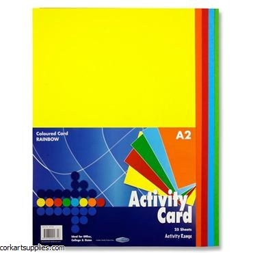 A2 Card 160g Asst 25pk