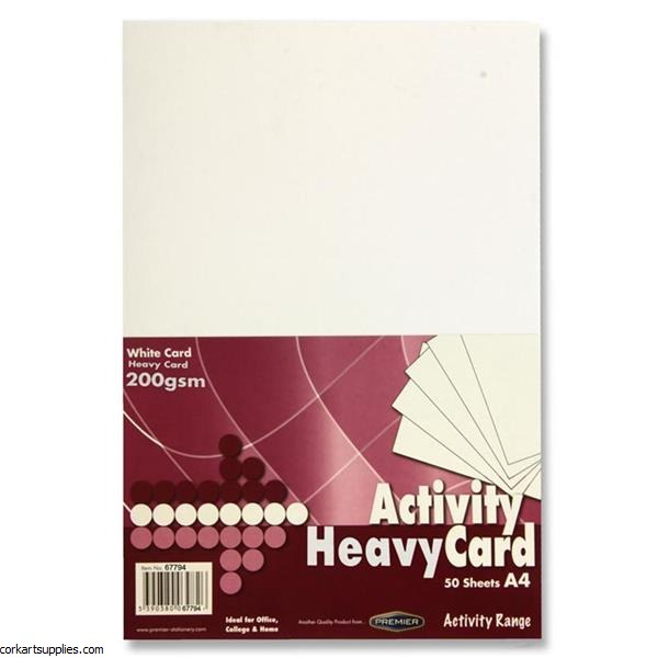 A4 Card 200gm 50pk White
