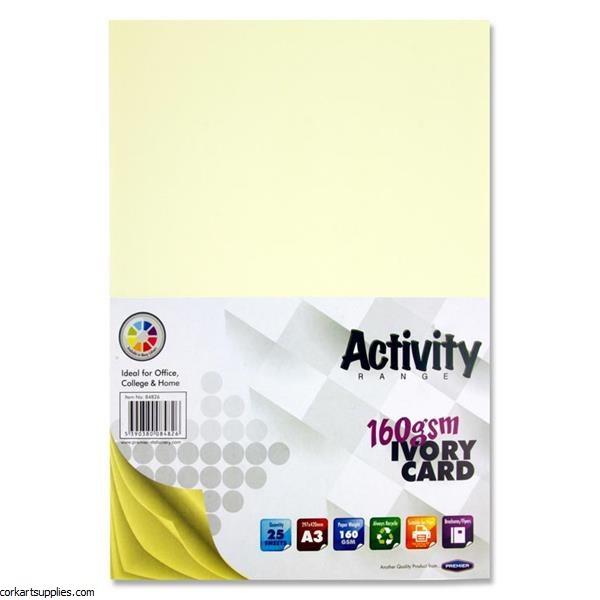 A3 Card 160gm Ivory 25pk