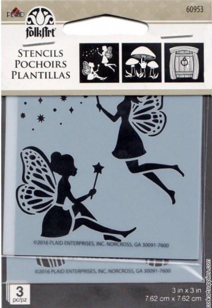 Stencil FolkArt 3x3