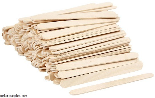 Lolly Sticks 500pk Natural 114x10x2mm