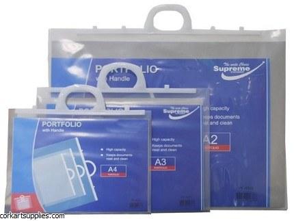 Portfolio Plastic w/Handle A4