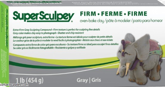 Super Sculpey 453g Firm Grey