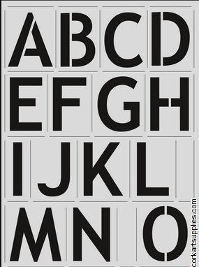 Stencil A4 CE Full Alphabet Block 57mm