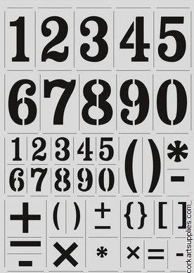 Stencil A4 CE Full Range Fancy Numbers 27mm/1