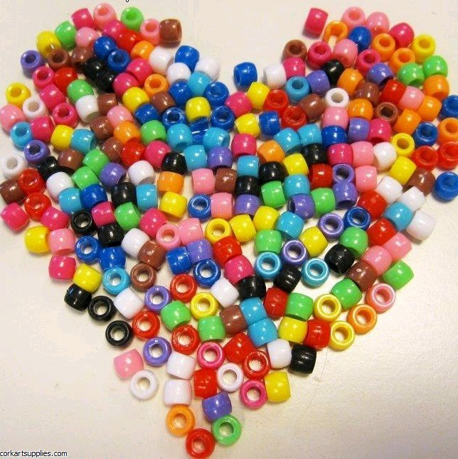 Beads Pony Asst Colours 50g