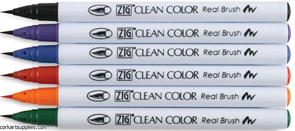ZIG Clean Color Asst 6pk