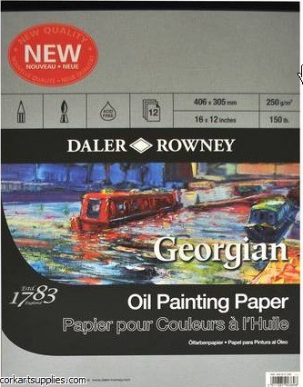 """Georgian Oil Pad 16x12"""""""
