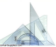 Set Square&Protractor Set 3pk