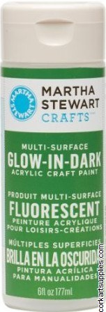 Martha Stewart Glow In The Dark Acrylic Paint 177ml - Green