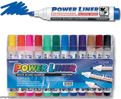 Whiteboard Markers Asst 12pk