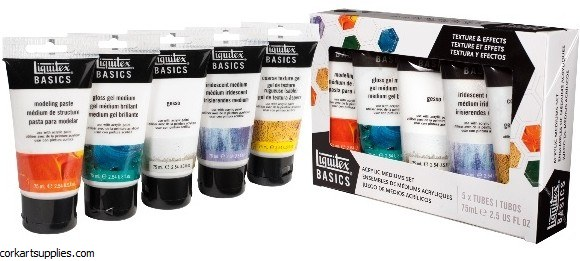 Liquitex BASICS Acrylic Medium 75ml Starter 5pk