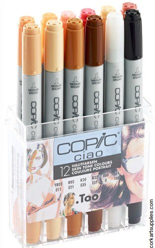 Copic Ciao 12pk Skin Tones