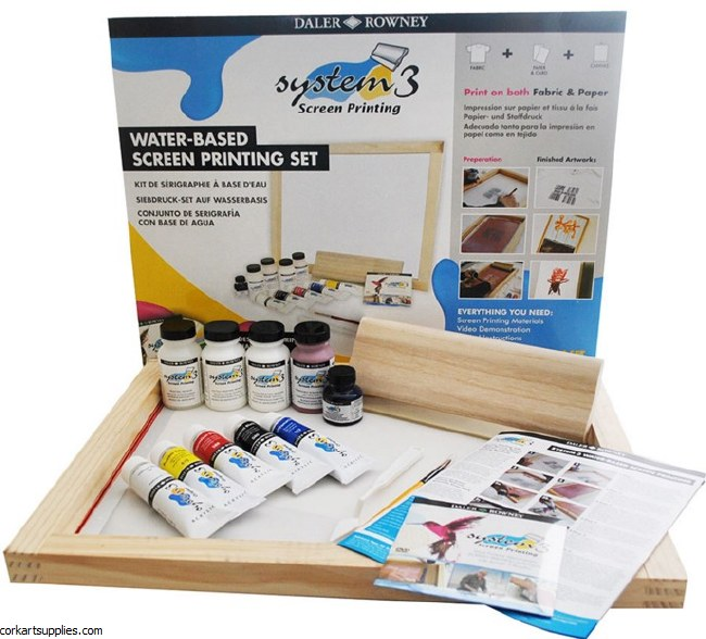 Daler Rowney Screen Printing Set System 3 Acrylic