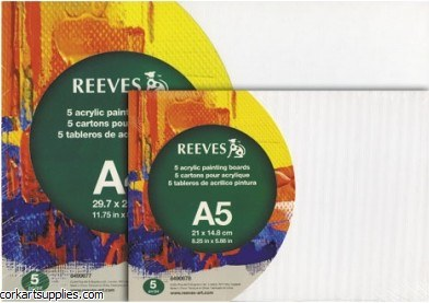 Reeves Acrylic Boards A4 5pk