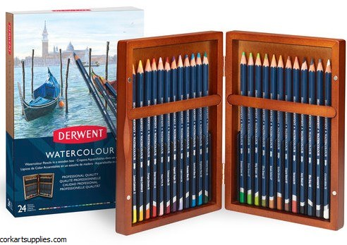 Derwent Watercolour Wood Box